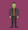 frankenstein halloween character vector image
