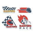 karting race club and competition promotional vector image