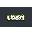loan word text logo design green blue white vector image