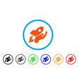 manual rocket launch rounded icon vector image
