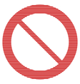 No sign on white vector image