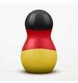 Russian tradition matrioshka dolls in Germany flag vector image