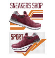 two sneakers logotypes vector image