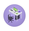 Isometric accountant workplace vector image