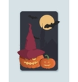 on the theme of Halloween invitation vector image