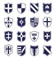Set of heraldic shields on white background vector image