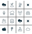 set of 16 ecology icons includes raindrop vector image