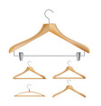 wooden clothes hangers of vector image