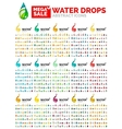 Water drop concept mega set environmental shapes vector image vector image