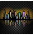 Skycrapers City skyline vector image