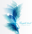 Abstract vintage blue background for design vector image