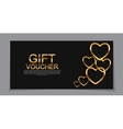 Gift Voucher Template for Valentines Day Discount vector image