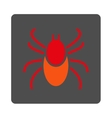 Mite Rounded Square Button vector image