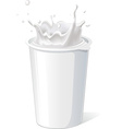 plastic container for yogurt with splash - vector image