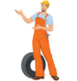 Smiling Car mechanic vector image
