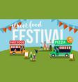street food festival flyer vector image