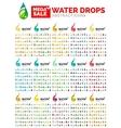 Water drop concept mega set environmental shapes vector image