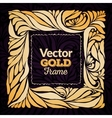 Gold ornament frame vector image vector image