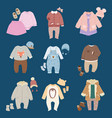 infants baby child clothes vector image