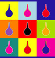 enema sign  pop-art style colorful icons vector image