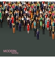 flat of business or politics community crowd of vector image