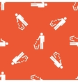 Orange recycling pattern vector image