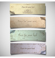 Vintage banners in pastel tones vector image vector image
