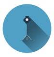 Icon of curtain light vector image