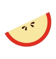 apple piece isolated icon design vector image