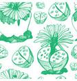 botanical green background vector image