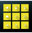 flat web icon set vector image