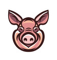 funny smiling pink pig vector image