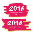 Happy New Year 2016 on colorful background vector image