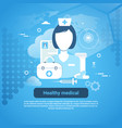 healthy medical health care application concept vector image