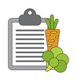 icon in flat design vegetable menu vector image