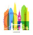 london landmarks bright collage vector image