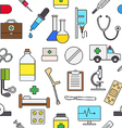 Medicine colorful pattern icons vector image