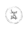 save the date calligraphy digital drawn vector image