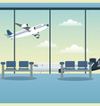 waiting room airport plane vector image
