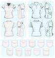 Womens polo-shirt design templates vector image vector image