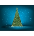Abstract green christmas blue on blue EPS 10 vector image vector image