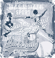 baseball longball hit vector image vector image