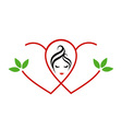 Logo for beauty or alternative medicine for ladies vector image