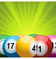 bingo balls on green starburst vector image