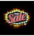 Retro Sale Light Banner with light frame vector image