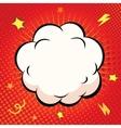 Comic Speech Bubble Cartoon explosion on red vector image vector image