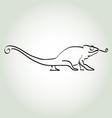 Chameleon in minimal line style vector image