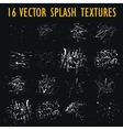 Set of 16 grungy artistic textures vector image