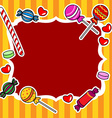 Candy billboard or sign vector image