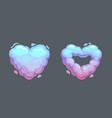 cartoon smoke heart icons vector image